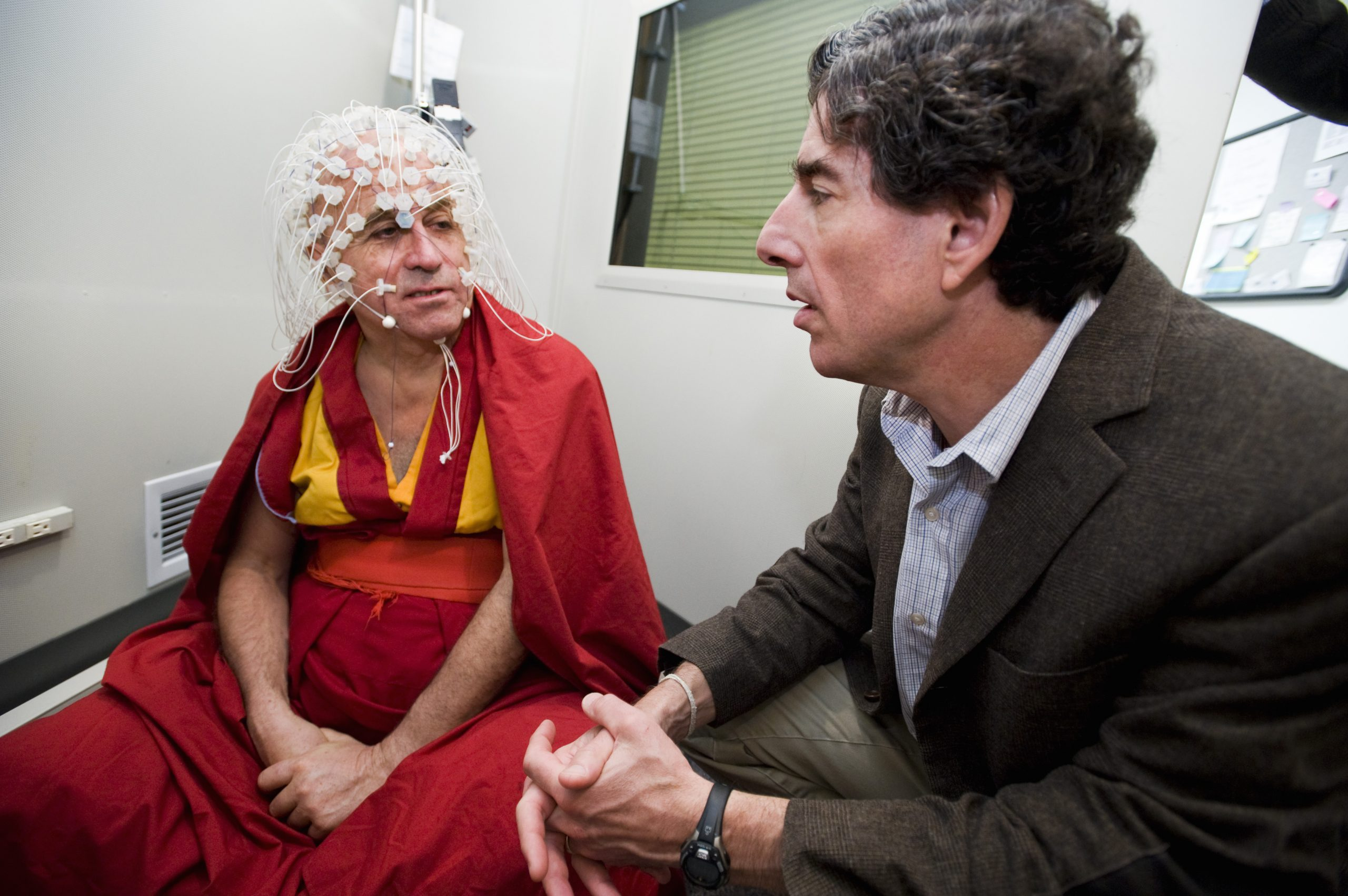 Meditation and science - buddhist monk eeg
